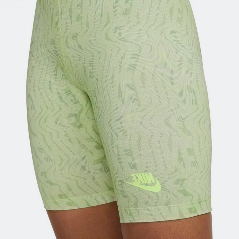 Nike Sportswear Women'S Festival Aop Biker Shorts