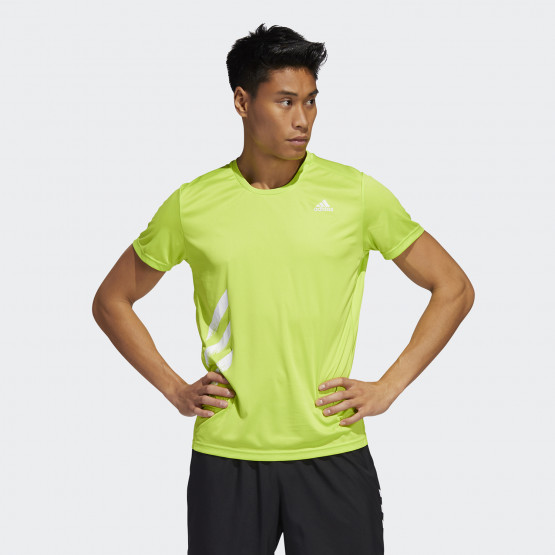 adidas Performance Men's Run It 3-Stripes PB Tee