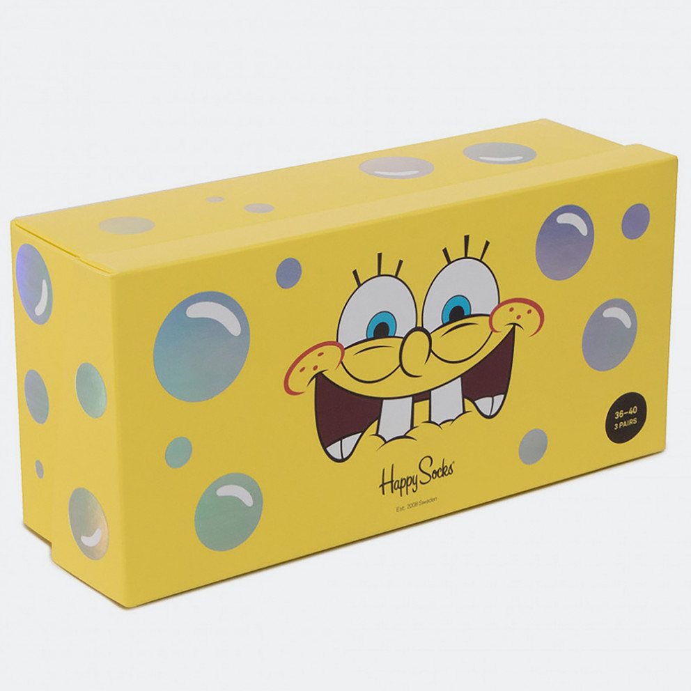 Happy Socks Sponge Bob 3-pack Gift Box
