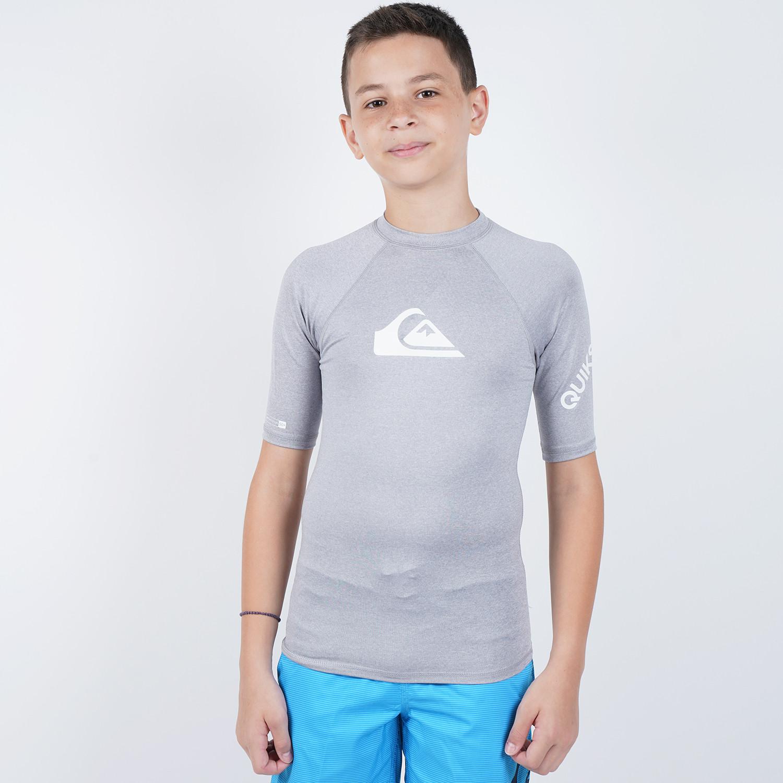 Quiksilver Boy's All Time Short Sleeve UPF 50 Rash Vest (9000050408_44928)