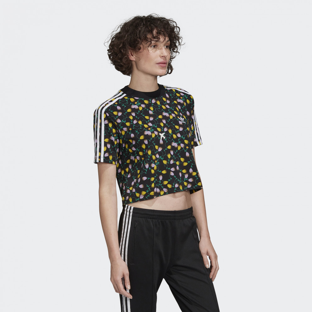 adidas Originals Cropped All Over Print Women's Tee
