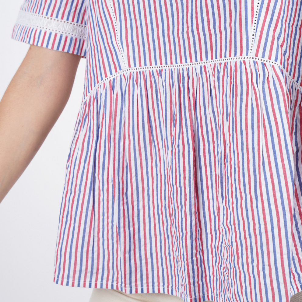 Tommy Jeans STRIPED SHORTSLEEVE TOP
