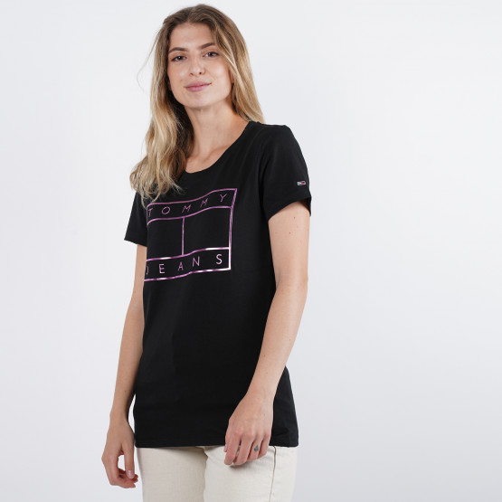 Tommy Jeans Metallic Flag Woman Tee