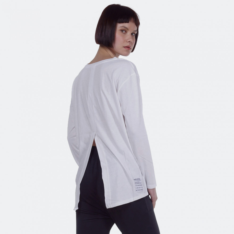 Body Action WOMEN RELAXED LONG SLEEVE T-SHIRT