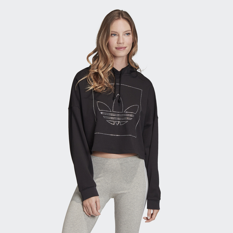adidas Originals Crop Hoodie Γυναικεία Μπλούζα (9000059552_1469)