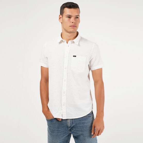 Lee Ss Button Down White Canvas