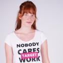 "Target Loose Top Καλτσα Φλαμα ""Work Harder"""
