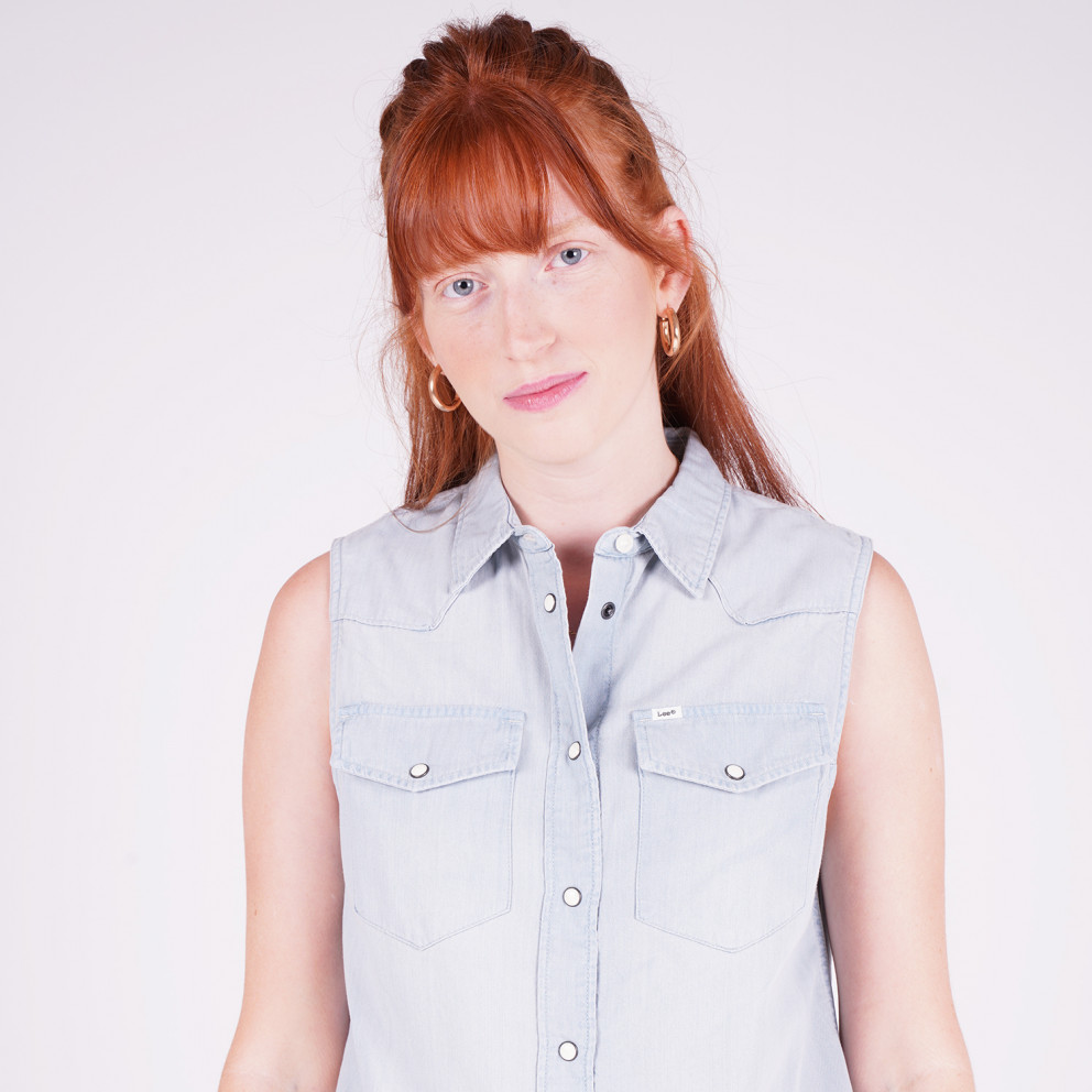 Lee Sleeveless Shirt Sterling Blue