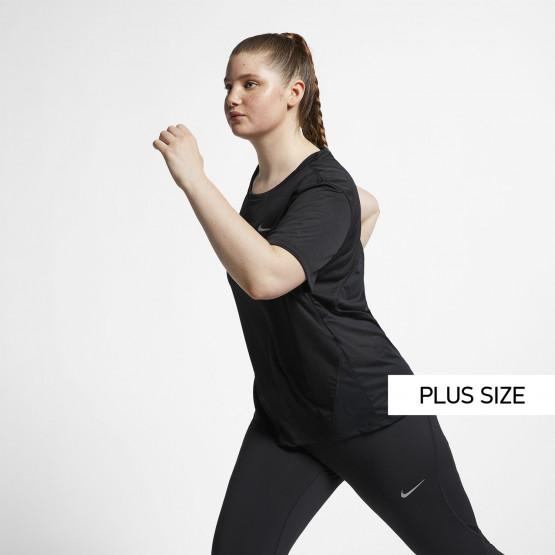 Nike Miler Γυναικείο Μπλουζάκι για Τρέξιμο (Plus size)