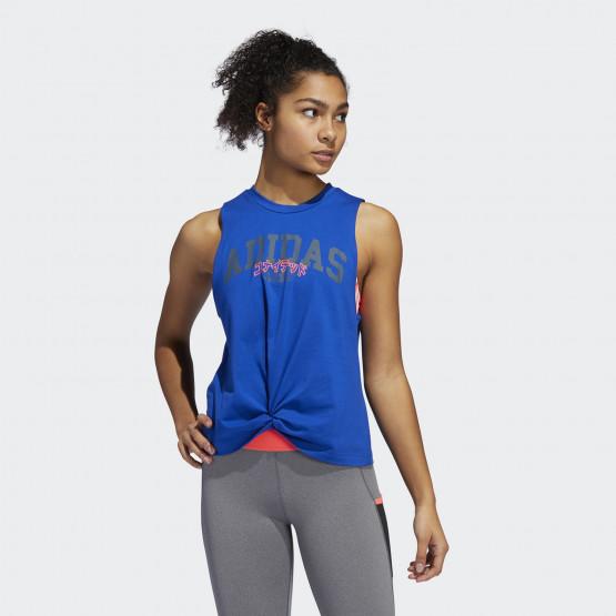 adidas Performance Graphic Γυναικεία Αμάνικη Μπλούζα