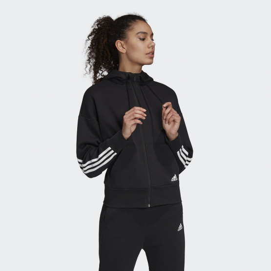 adidas Performance 3-Stripes Doubleknit Full-Zip Scuba Γυναικεία Ζακέτα