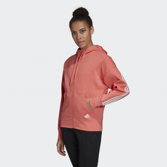 adidas Performance 3-Stripes Doubleknit Full-Zip Scuba Women's Jacket