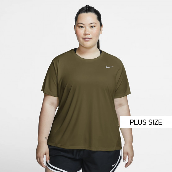 Nike Miler Women's Short-Sleeve Running Top (Plus size)