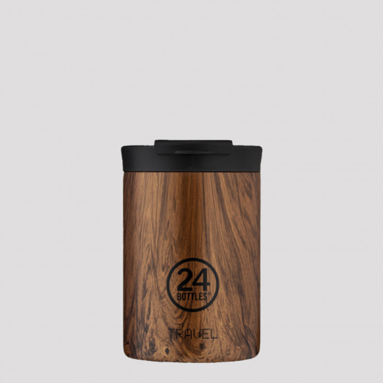24Bottles Travel Sequoia Wood Stainless Steel Cup 350 ml