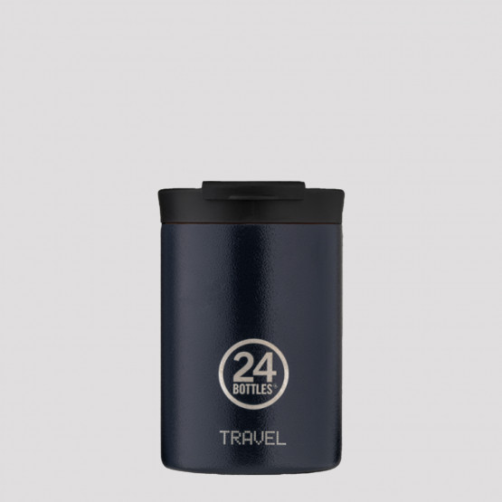 24Bottles Travel Tumbler Deep Blue Stainless Steel Cup 350 ml
