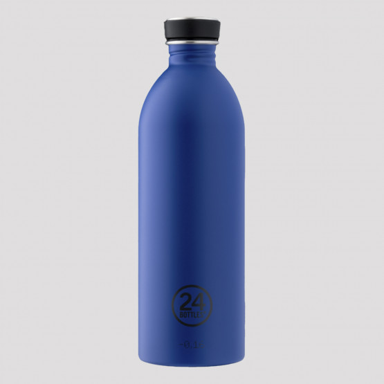 24Bottles Urban Gold Blue Steel Bottle 1L