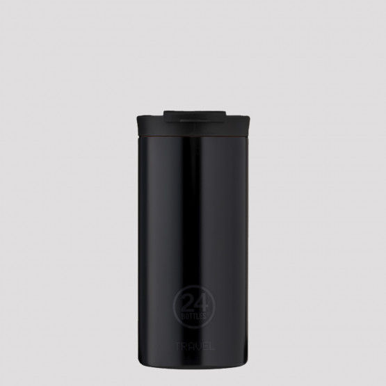24Bottles Travel Tumbler Tuxedo Black Stainless Steel Cup 600ml