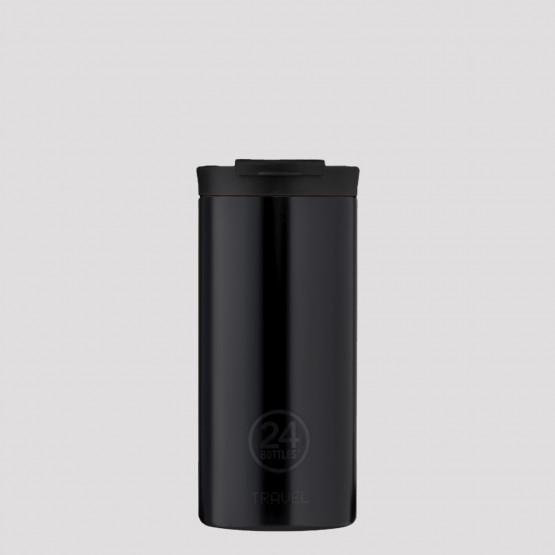 24Bottles Travel Tumbler Tuxedo Black Ανοξείδωτο Ποτήρι Θερμός 600 ml