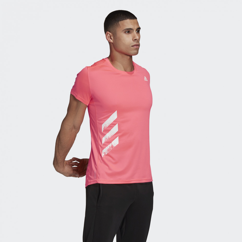 adidas Performance Run It 3-Stripes Pb Ανδρική Μπλούζα