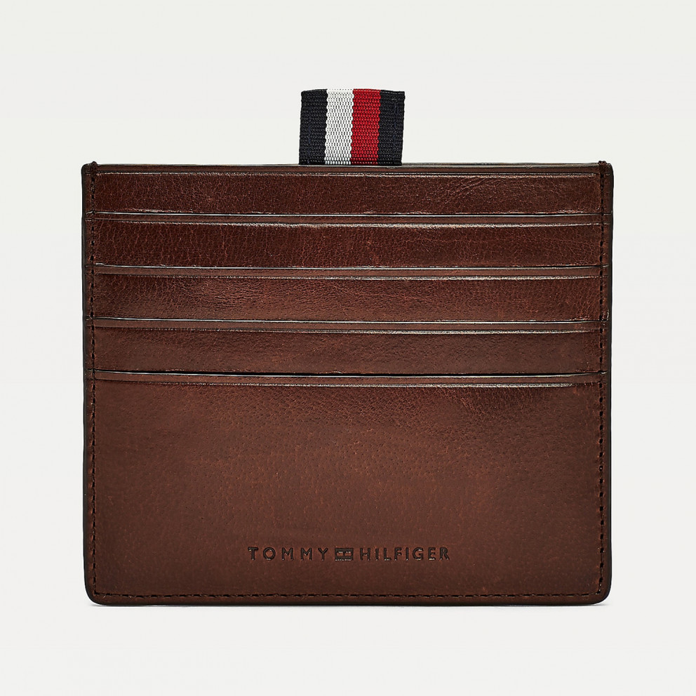 Tommy Jeans Polished Leather Slide Cc Holder