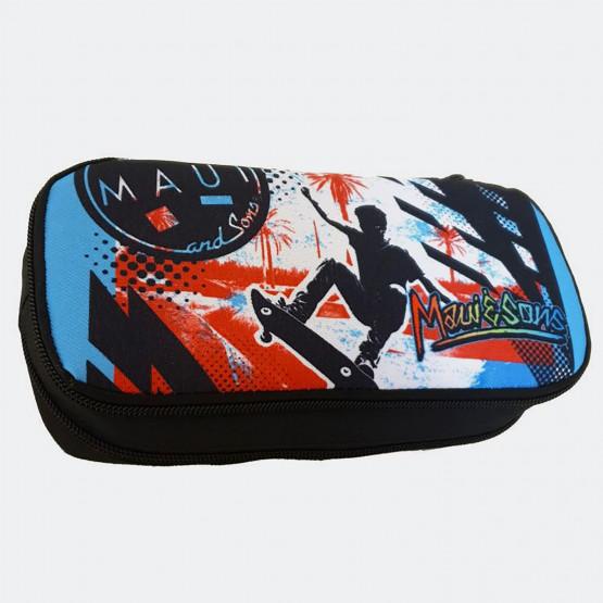MAUI Skate Κασετίνα Βαρελάκι Οβάλ 9 x 21 x 6 cm