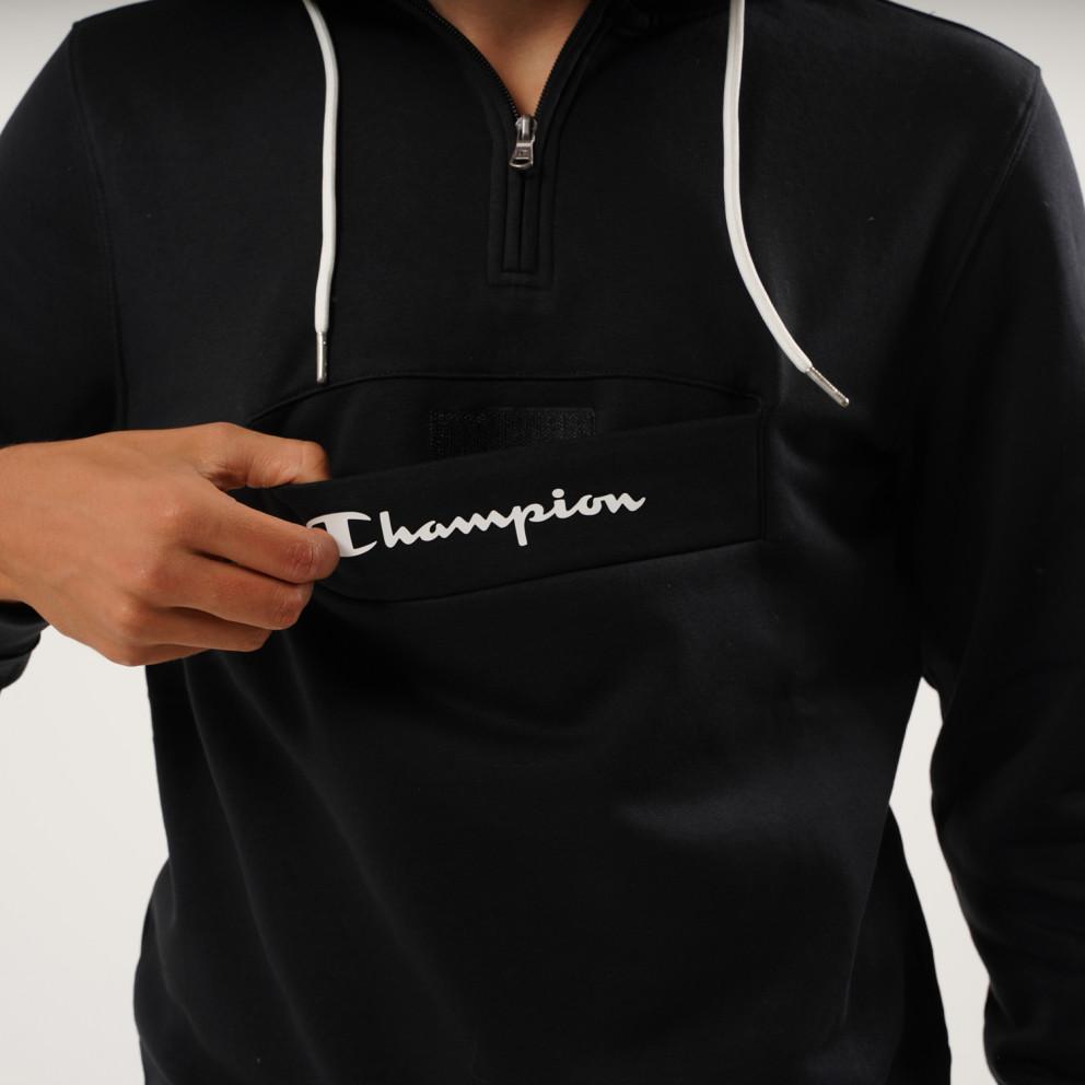Champion Hooded Half Zip Sweatshirt
