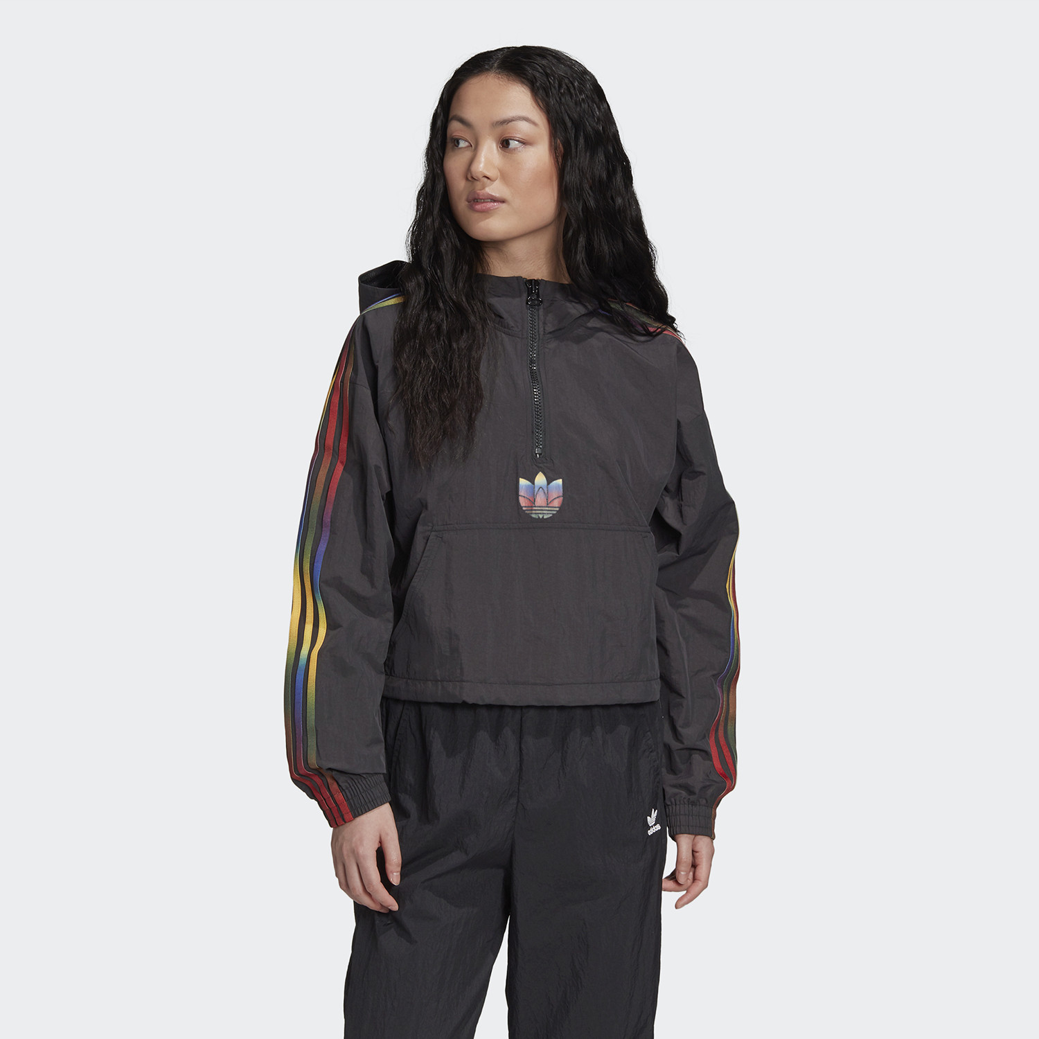 adidas Originals Cropped Halfzip Γυναικείο Φούτερ (9000058890_1469)