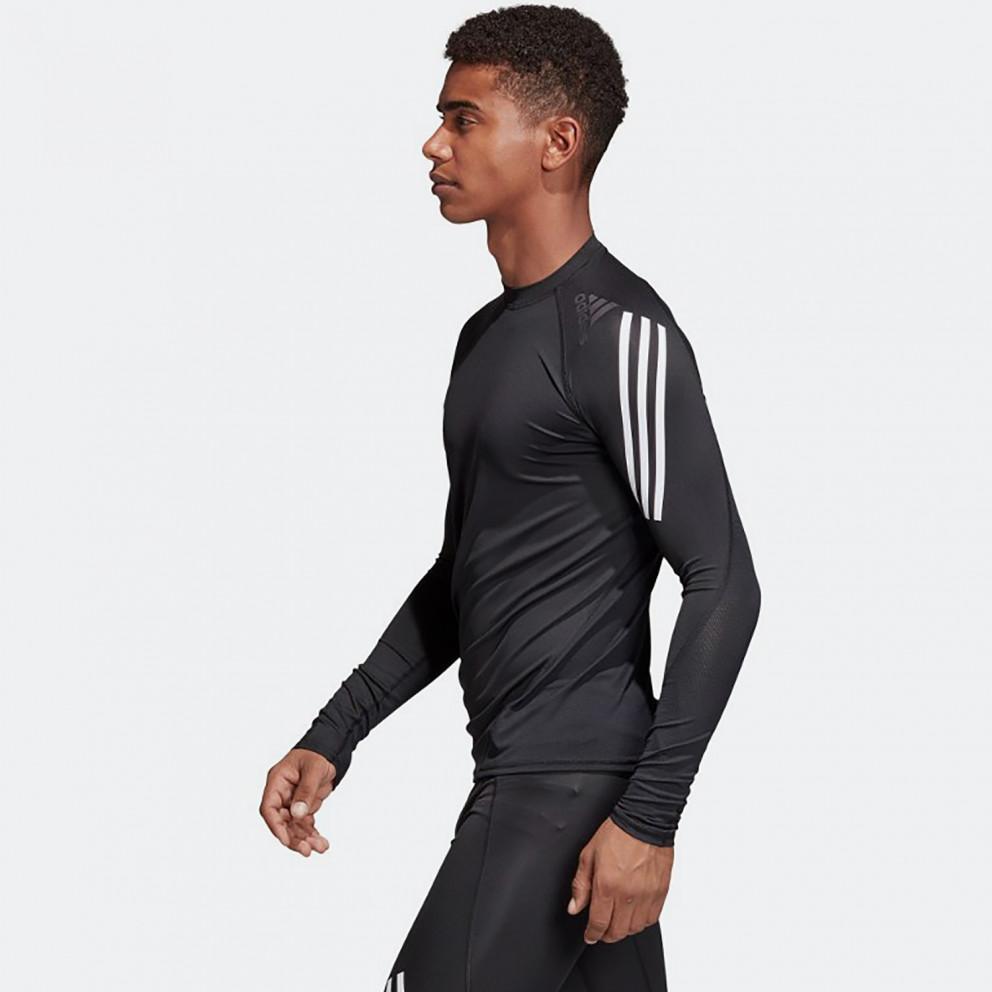 adidas Performance Alphaskin Sport 3-Stripes Ανδρική Mακρυμάνικη Μπλούζα
