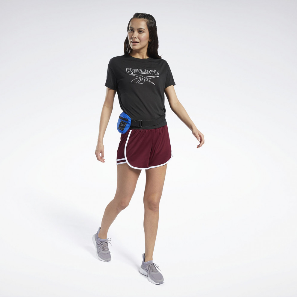 Reebok Sport Workout Ready Supremium Slim Fit Big Logo Women's Tee