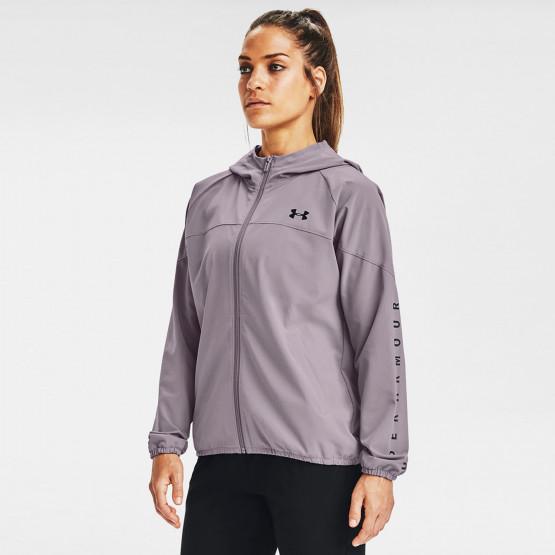 Under Armour Women's Woven Branded Full Zip Hoodie