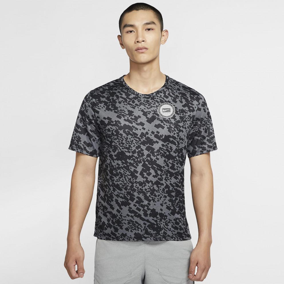 Nike Dri-FIT Miler Wild Run Men's Printed Running Top