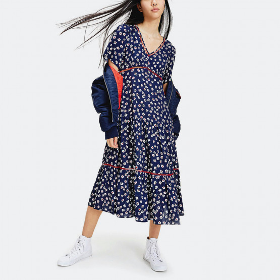 Tommy Jeans Printed Lace Trim Women's Dress