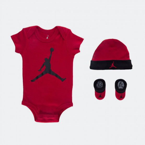 Jordan Jumpman Hat /Bodysuit /Bootie Set 3Pc for Babies