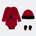 Jordan L/S Jumpman Hat/Bodysuit/Bootie Set 3Pc