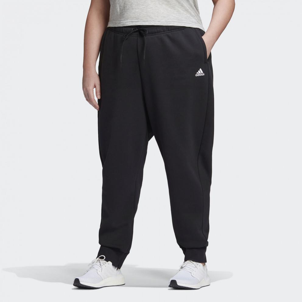 Adidas Stacked Logo Fleece Pants Plus Size Γυναικεία Φόρμα