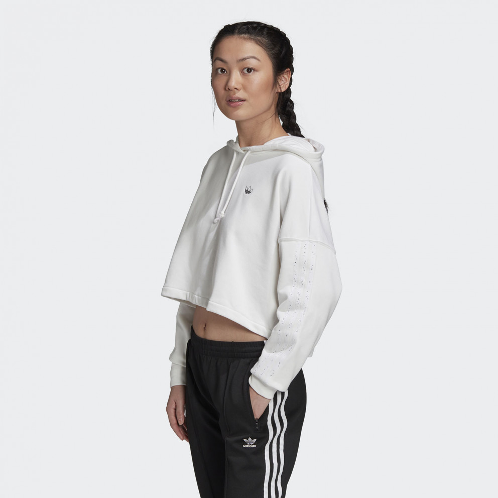 adidas Originals Cropped Γυναικεία Μπλούζα με Κουκούλα