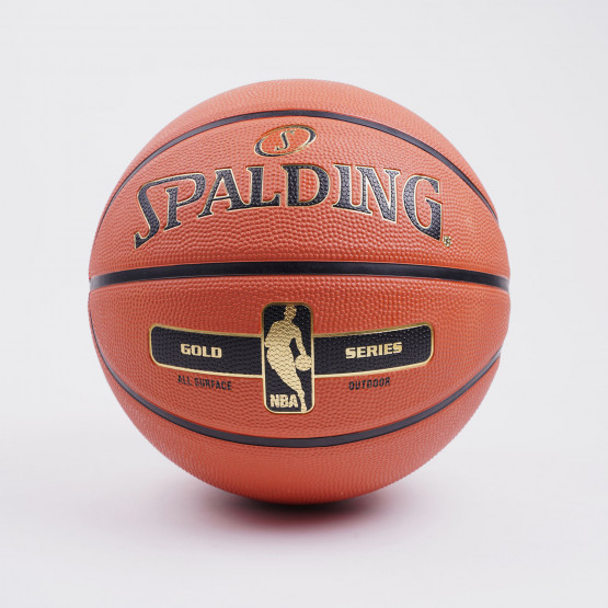 Spalding Nba Gold Series Size 7 Rubber Basketball
