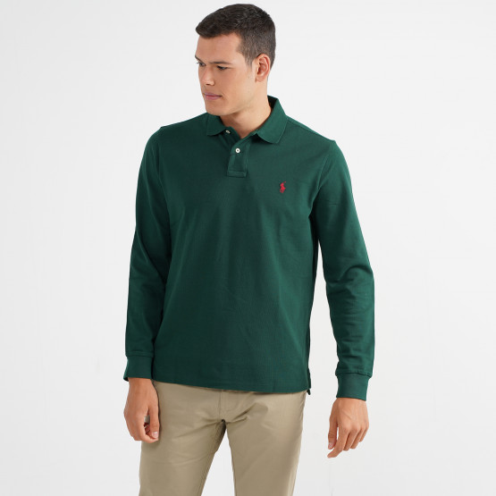 Polo Ralph Lauren Slim Fit Mesh Men's Long Sleeve Polo