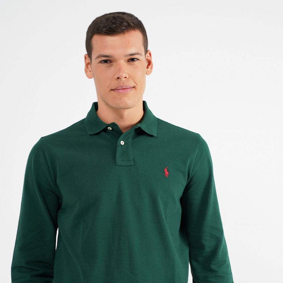 Polo Ralph Lauren Slim Fit Mesh Ανδρικό Μακρυμάνικο Πόλο