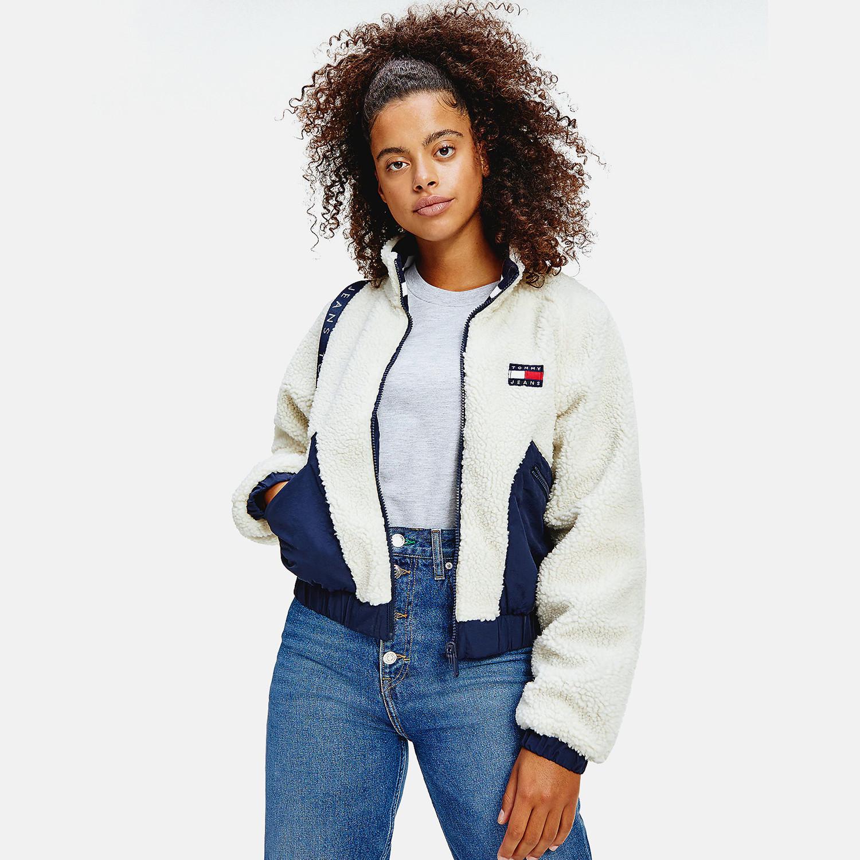 Tommy Jeans Sherpa Γυναικεία Ζακέτα (9000065146_45068)