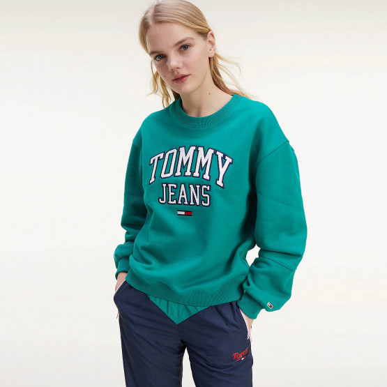 Tommy Jeans College Logo Relaxed Fit Γυναικείο Sweatshirt