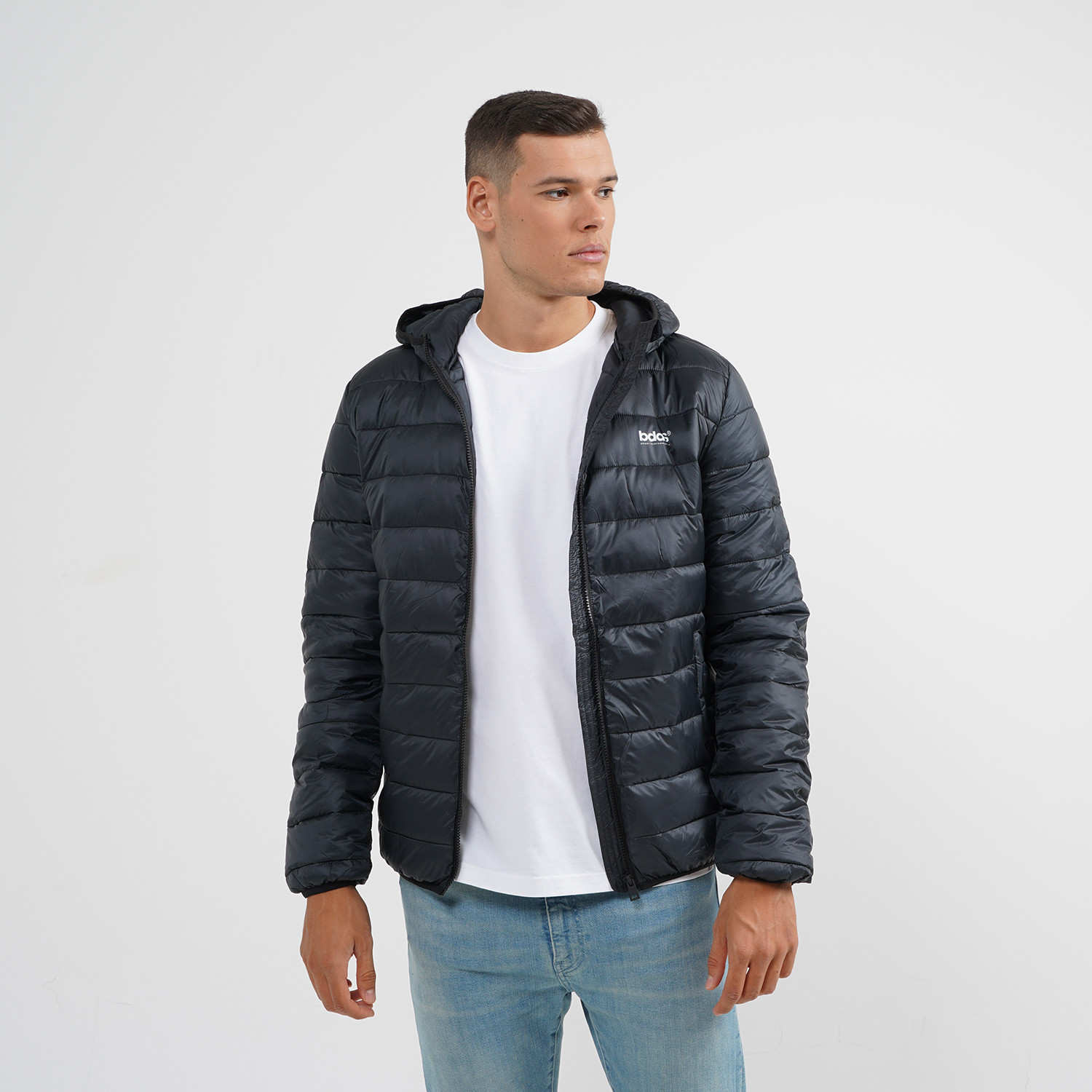 Body Action Men Padded Jacket With Hood (9000064116_1899)