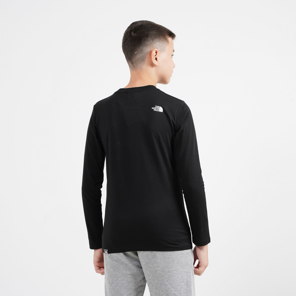 THE NORTH FACE Y L/S Easy Tee Tnfblack/T