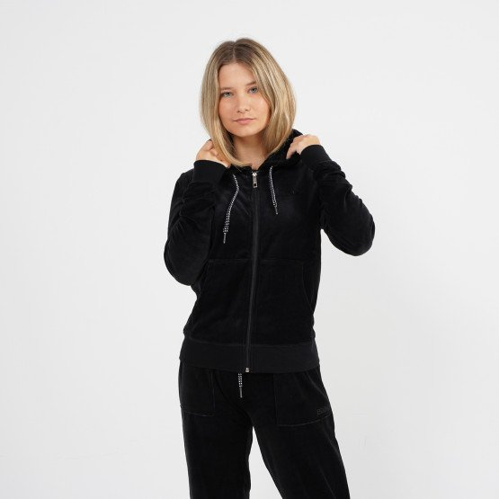 Body Action Women Velour Hoodie Jacket