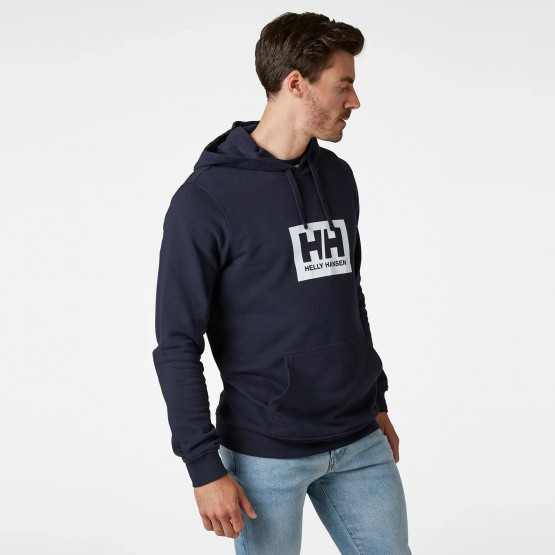 Helly Hansen Logo Ανδρική Μπλούζα με Κουκούλα