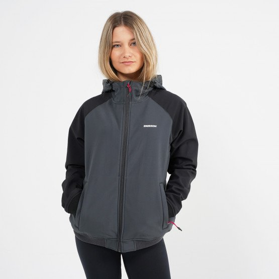 Emerson Women's Soft Shell Rib Jkt with Hood