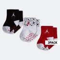 Jordan Ankle 3PK Βρεφικές Κάλτσες