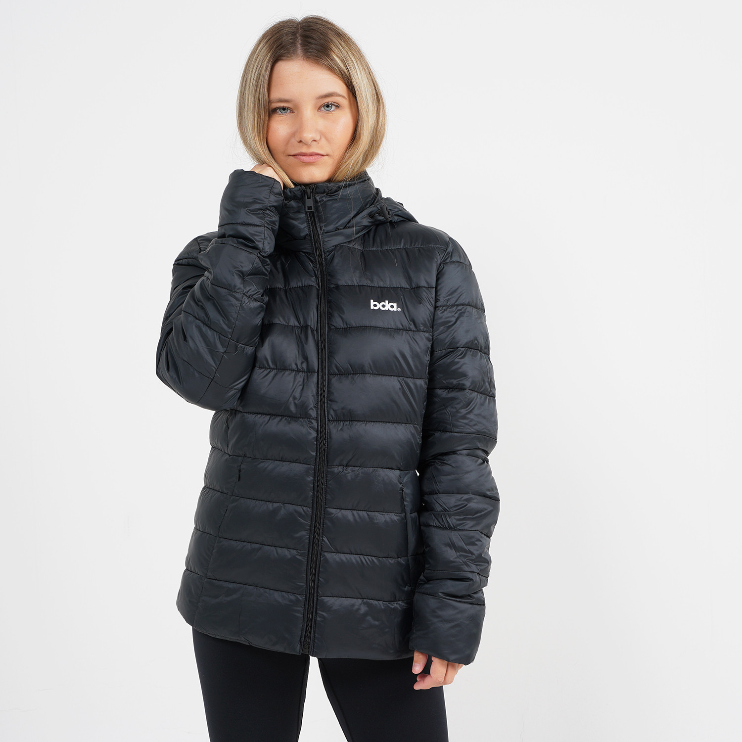 Body Action Women Puffer Jacket With Hood (9000064113_1899)