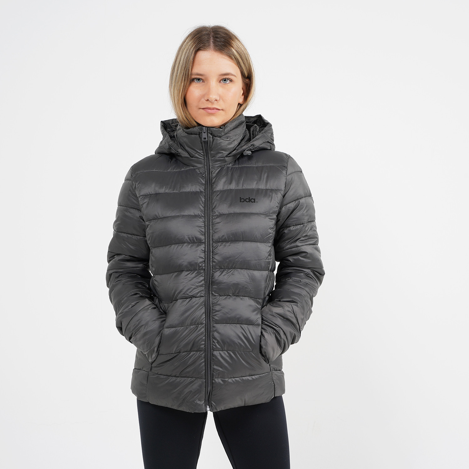 Body Action Women Puffer Jacket With Hood (9000064113_6587)