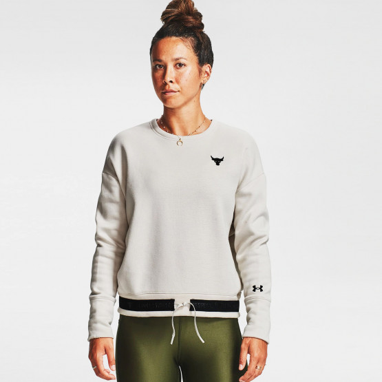 Under Armour Women's Project Rock Charged Cotton® Fleece Crew